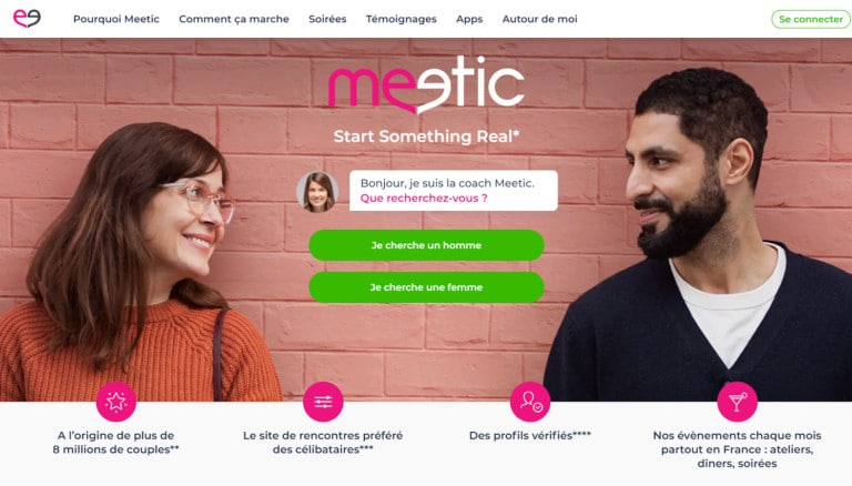 Meetic screen